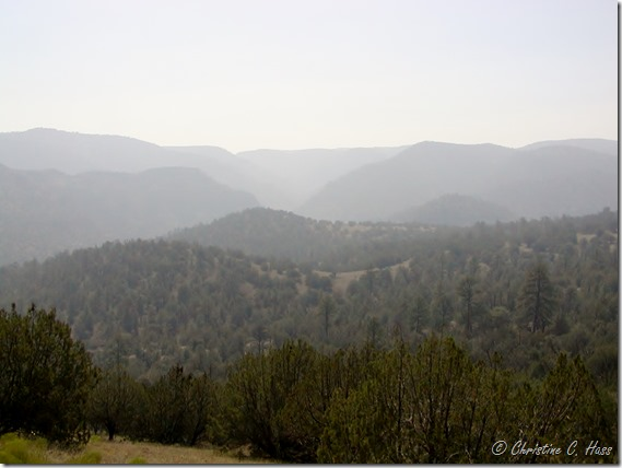 Smoky haze over the Gila Wilderness