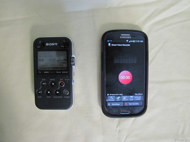 Sony PCM-M10 and Samsung Galaxy S3
