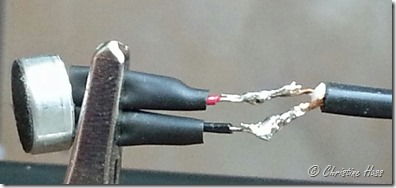 Wires soldered together